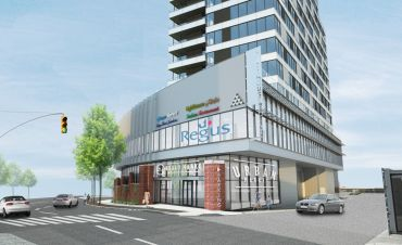 A rendering of Lighthouse Point Market and 35A Bay Street. The market will open later this year.