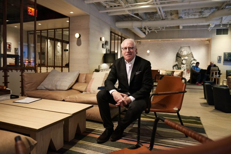 Mitch Hochberg, President of Lightstone at Moxy Hotel Times Square in New York City