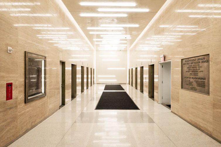 NYU installed 10 new elevators in the building and polished the marble on the ground floor.