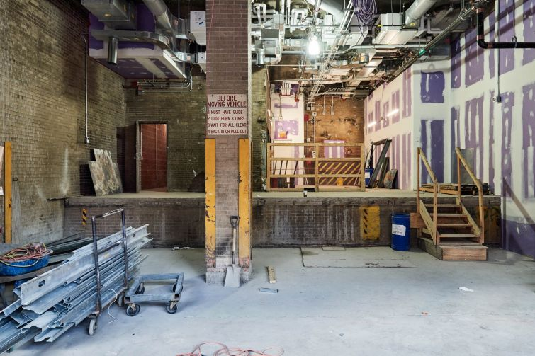 A garage space that used to allow for armored trucks to pick up money from the MTA headquarters building, will be transformed into a performance venue.