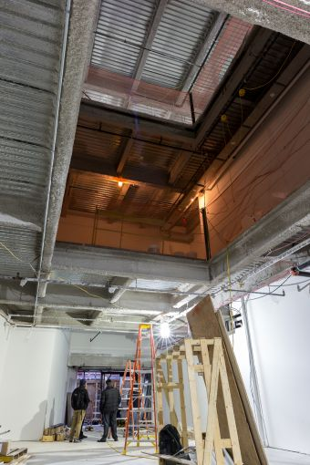 Planet Fitness will have a three-level atrium in its space.