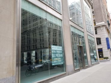 The retail space at 387 Park Avenue South.