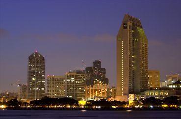 Evening in San Diego.