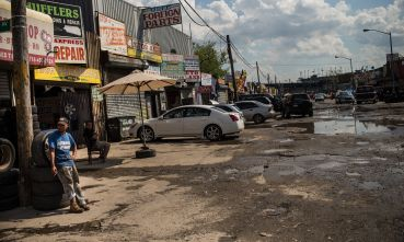 Willets Point auto shops in 2013.