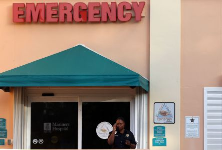 A hospital in the Florida Keys. Analysts said healthcare REITs have suffered from fears of cuts in government medical spending.