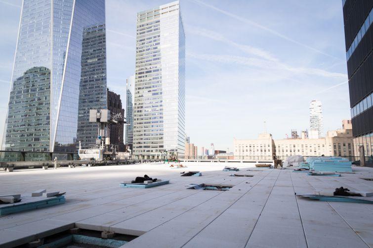 The 17th floor terrance.