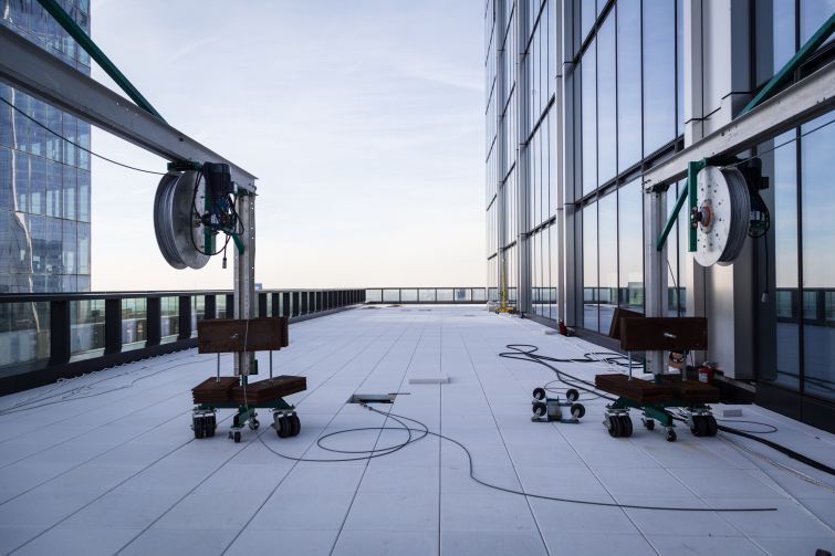 The terrace on the 60th floor of the building.