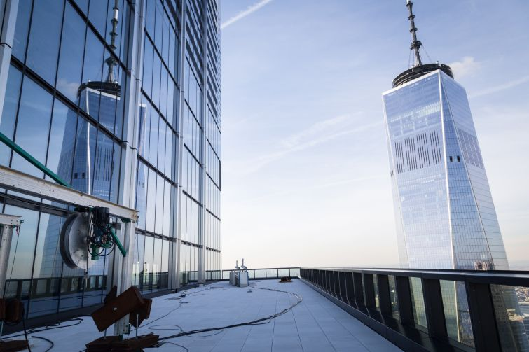 The terrace on the 76th floor of the building makes 1 World Trade Center seem within reach.