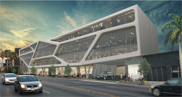 A rendering of the planned office project in Culver City, Calif.