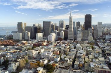 Aerial view of downtown San Francisco.