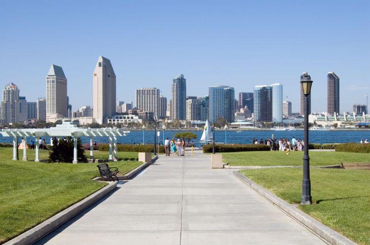 A view of the San Diego skyline from Coronado.