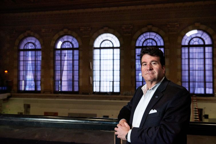 Allan Fried, head of GHC Development, is redeveloping the historic American Stock Exchange building.