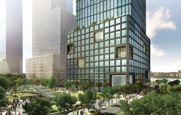 55 Hudson Yards, Looking West from 34th St.