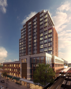 A rendering of the development at 3-50 St. Nicholas Avenue.