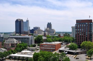 A shot of downtown Raleigh, N.C.