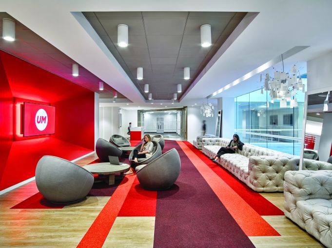 Ted Moudis Associates handled the design for advertising firm Universal McCann's offices.