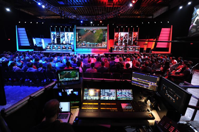 The League of Legends North American Championship Series in Manhattan Beach.