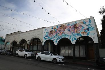 Murals adorn the exterior walls of a Snapchat office in Venice, California.