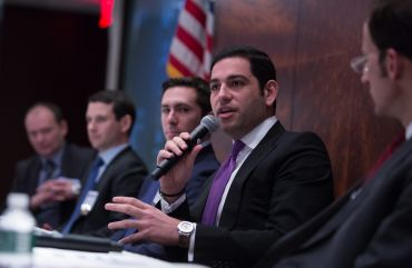"Mitchell Moinian of The Moinian Group speaks at CO's ""The Hudson Yards District: New York's Newest Neighborhood"" conference on March 8."