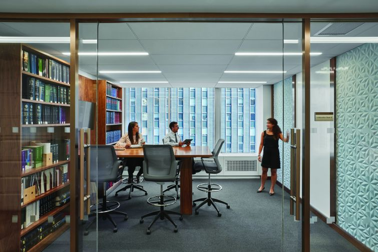 Law firm Hodgson Russ' new offices at 605 Third Avenue.