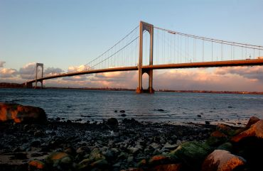 The Bronx–Whitestone Bridge.