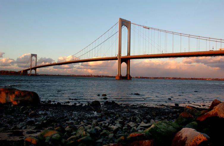 The Bronx–Whitestone Bridge.