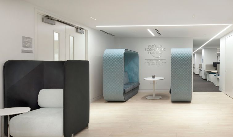 Private booths for employees to work in new ways.