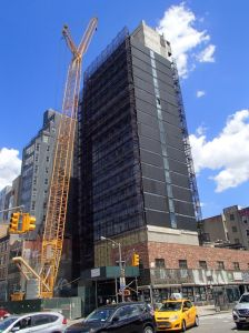 The citizenM hotel at 189 Bowery under construction.