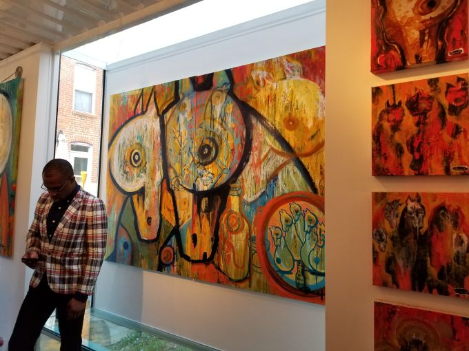 Works by Rick Bach inside of Studio A. Photo: Christina Sturdivant Sani
