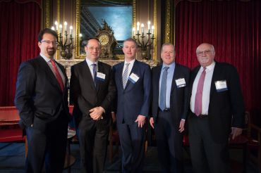 (Left to right) Mark Edelstein, Ralph Herzka, Dennis Schuh, Greg Reimers and Alan Wiener.