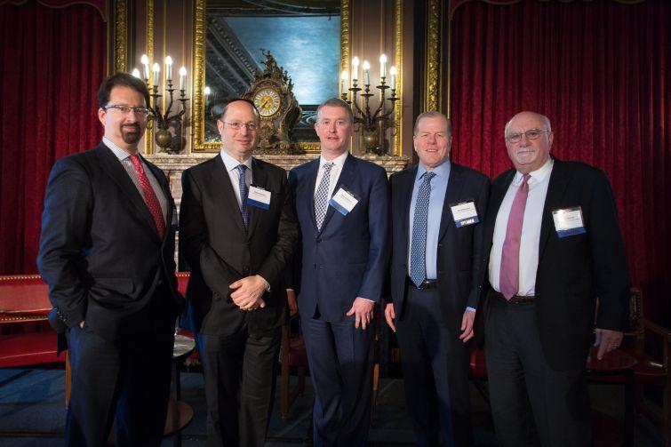 (Left to right) Mark Edelstein, Ralph Herzka, Dennis Schuh, Greg Reimers and Alan Wiener.