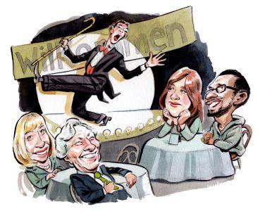 From left: Joanne Podell, Rick Cotton, Toby Moskovitz and Sundar Pichai