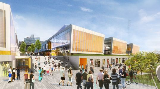 A rendering of Empire Outlets.