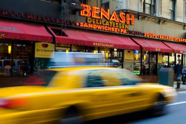 Ashes to Benash Delicatessen on 7th Avenue and West 55th Street.