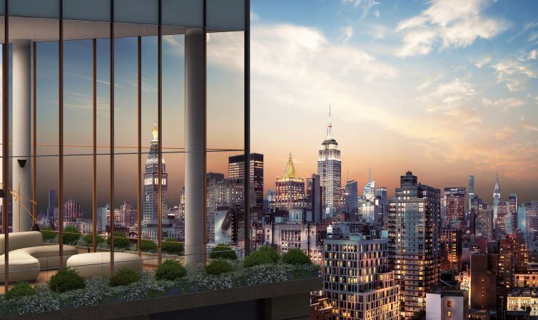A rendering of the penthouse at Gramercy Tower.