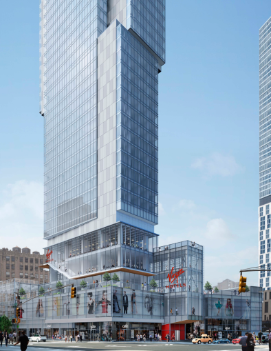 Rendering of the Virgin Hotel at 1227 Broadway.