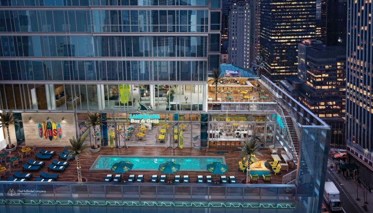 Rendering of Margaritaville Resort Times Square.