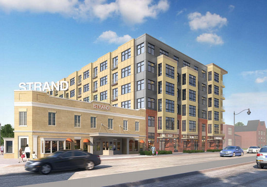 Rendering of Strand theater development.
