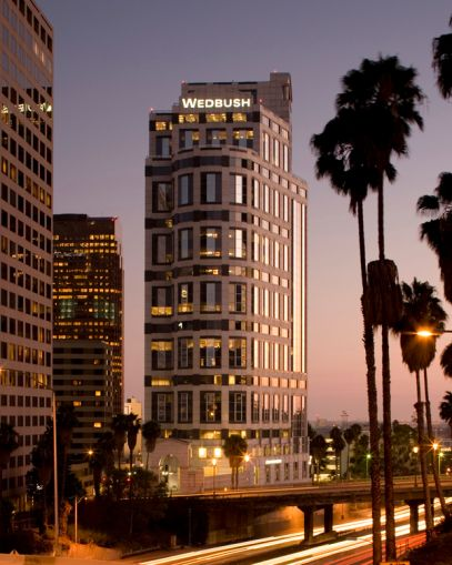 The Wedbush Center in DTLA was among the major office sales in the first quarter of 2018.