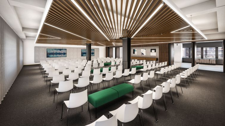 The town hall area will be able to accommodate 150 people.
