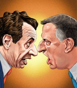Andrew Cuomo vs. Bill de Blasio.