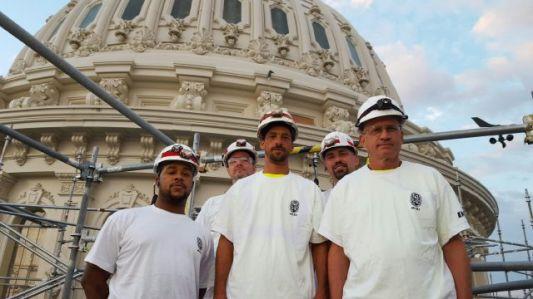 EverGreene team outside of the US Capitol.