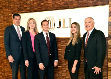 Pictured (left to right): Chris Isola, Kellie Hill, Evan Lewitt, Julia Dardick  and Bryan Lewitt.