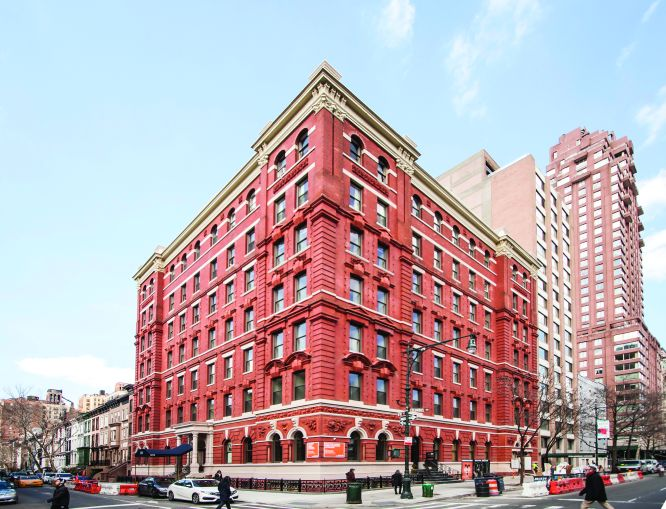 The redbrick and limestone condominium at 101 West 78th Street.