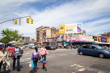 181st Street in Washington Heights is still mostly populated by mom-and-pop stores and restaurants, but national chains are beginning to change the feel of the neighborhood.