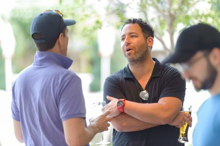 Jared Epstein of Aurora Capital (right) talking to Zachary Pomerantz of AR Global