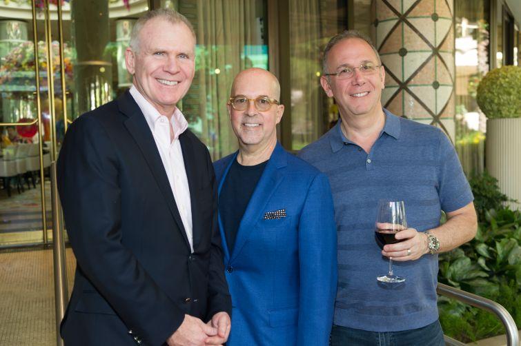 Christopher Conlon of Arcadia, Jeffrey Roseman and Marc Frankel of Newmark Knight Frank.