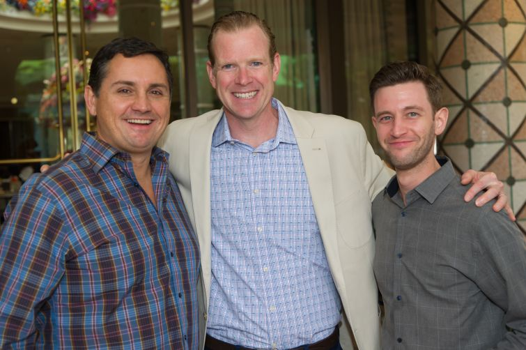 From left: Geoff Bailey of Ripco and Avison Young's James Nelson and Brent Glodowski.