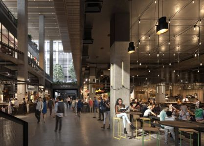A rendering of The Market Line, which has opened at Essex Crossing in the Lower East Side.