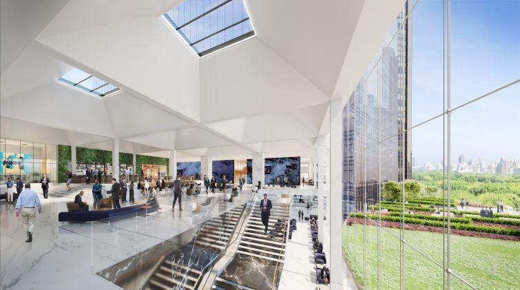 A skylight in Deutsche Bank's new offices.